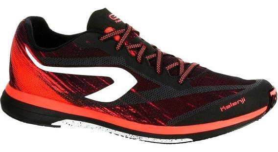 Tenis De Running Hombre Kiprun Race Negro Rojo