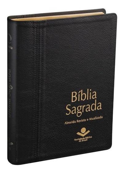 Bíblia Sagrada Letra Extra Gigante Capa De Couro Legítimo