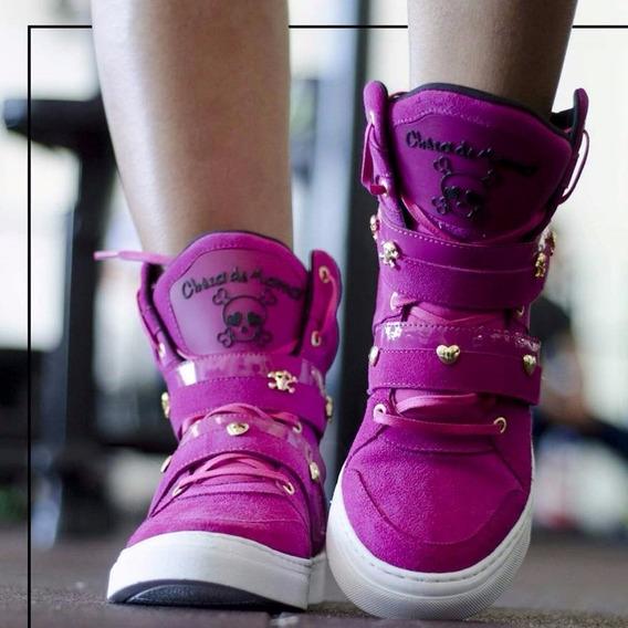 Botinha Sneakers Fitness De Treino De Couro Academia Cheia