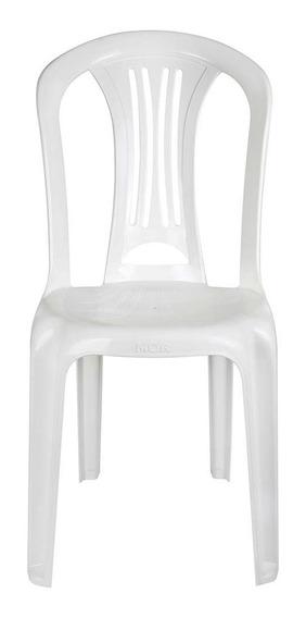 Cadeira Plástica Bistro Branca Mor Suporta Até 182 Kg