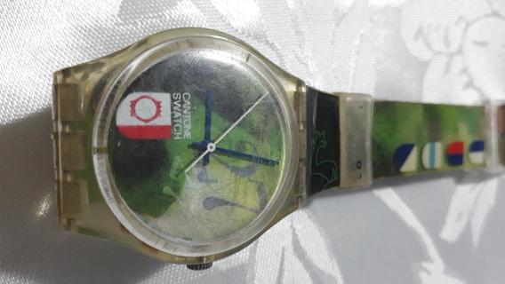 Relogio Lote 18 Vintage De Pulso Swatch Cantone