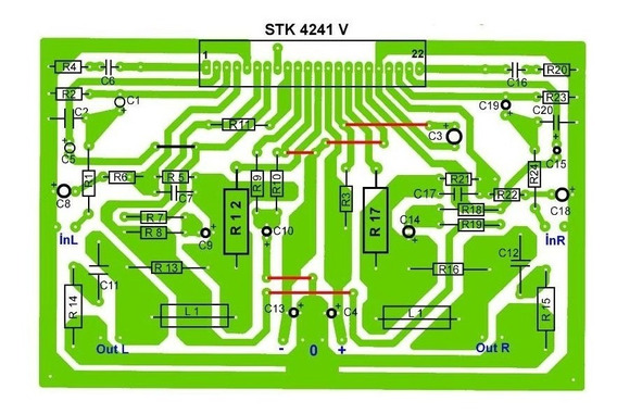 Plaqueta Circuito Impreso Amplificador 2x120w Rms Stk4241