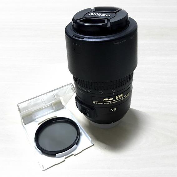 Lente Nikon Afs - Dx 55-300 Ed Semi Nova