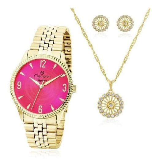 Relógio Feminino Champion Personalizado Dia Das Mães