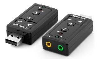 Tarjeta De Sonido Usb 7.1 Audio 3d Microfono Externo