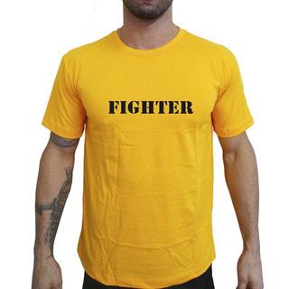 Camiseta Mma Shop Lutador Fighteramarelo