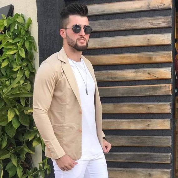 Blazer Slim Masculino Com Elastano - Pronta Entrega - Frete Grátis*