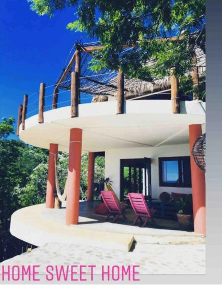 Bonita Casa Con Vista Al Mar Y Cerca De La Playa