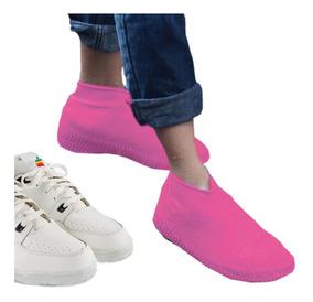 Cubre Lluvia Calzado Tenis Zapato Impermeable Seguro Silicon