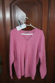 = Roupa Lote 639 Mulher Cashmere Rosa Argentino G Monte Serg
