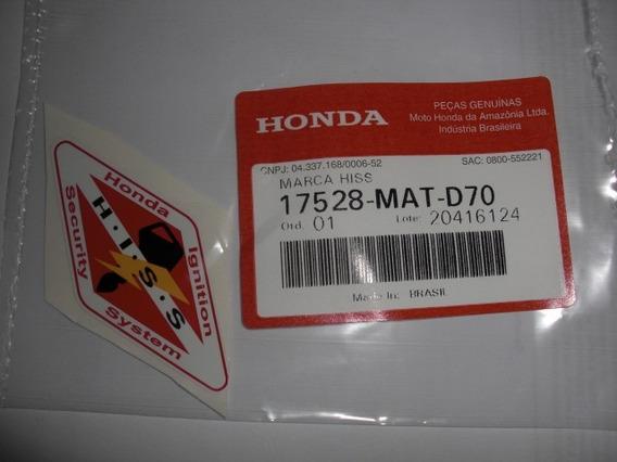 Adesivo Hiss Tanque Hornet Cb 1000 Nc Original Honda