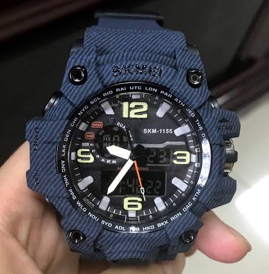 Relógio Masculino Skmei 1155 + Skmei 1015