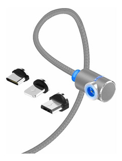 Cable De Carga Magnético Redondo En Cable Trenzado P...