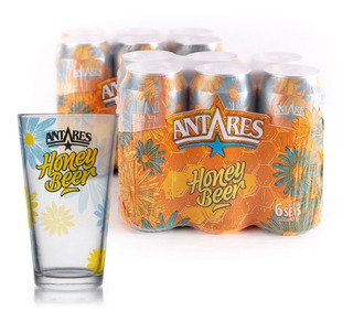 Pack Honey 12 Latas 473ml + 1 Vaso Honey Cerveza Antares