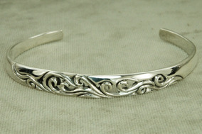 Bracelete Pulseira Tribal 1 Bali Masculino (l15,3) Prata 925