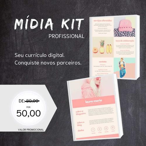 Imagem 1 de 1 de Mídia Kit Profissional Para Blogueiros