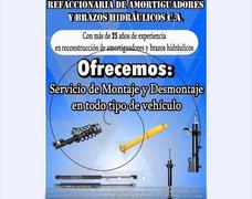Amortiguadores Y Brazos Hidráulicos / Reparación Y Nuevos