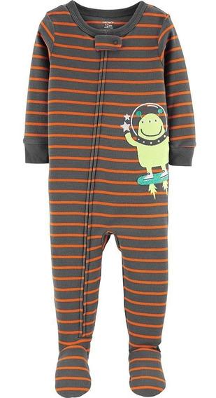 Macacão Pijama Carters 12 Meses Zíper E Pé