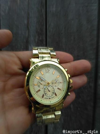 Relógio Dourado Masculino (preço Imperdível)