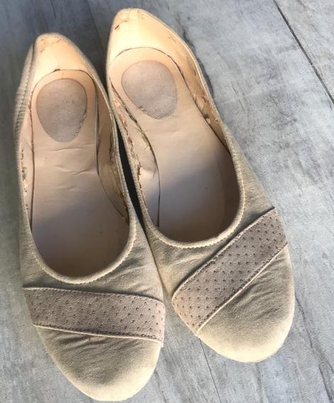 Zapatos Chatitas Ballerinas Gamuzadas Talle Grande 42