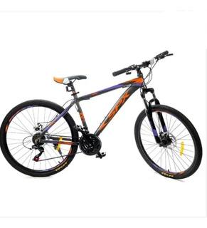 Bicicleta Montain Bike Rodado 26 Cuadro Aluminio + Faro Led