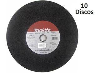 Kit De Disco De Corte 14x1 P/ Policorte Makita 10 Pcs