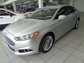 Ford Fusion Awd Gtdi 2.0 Aut C/ Teto 2014 Prata Flex