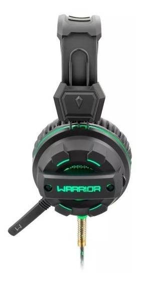 Fone De Ouvido Multilaser Headphone Gamer Warrior Green Usb