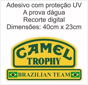 Adesivo Camel Trophy Land Rover Brazilian Team