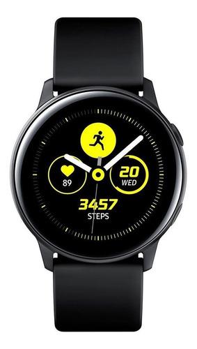 """Samsung Galaxy Watch Active (Bluetooth) 1.1"""" caja 40mm de  aluminio malla de fluoroelastómero y bisel  black SM-R500"""
