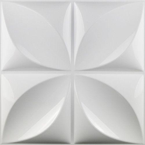 Panel Decorativo 3d Aryl  Pvc Interior Exterior Blanco