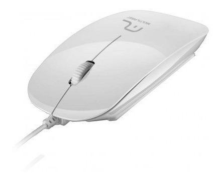 Mouse Optico Multilaser Branco Com Usb 3.0