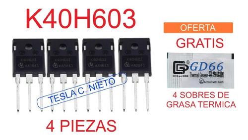 Imagen 1 de 8 de K40h603 Igbt 4piezas  K40h603 Inversora Infra Actron