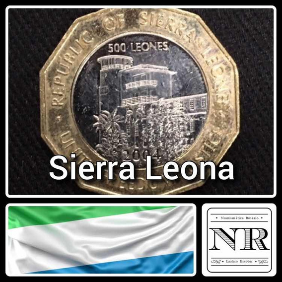 Sierra Leona - 500 Leones - Año 2004 - Bimetalica - Km # 296