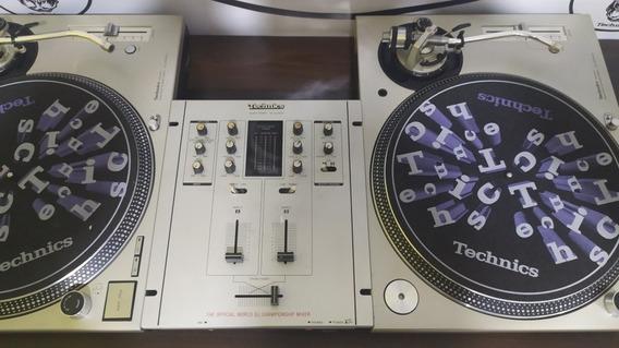 Par Toca Discos Technics Mk3d + Mixer Technics 110volts!!!