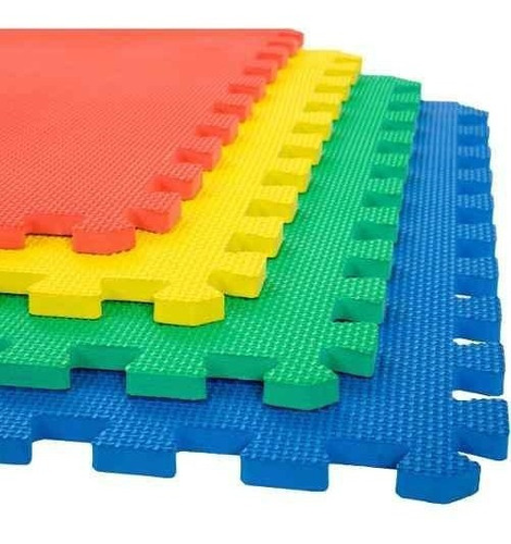Imagen 1 de 4 de Tapete Piso Foamy Fomi Fomy Colores   8 Piezas 50x50 Cm