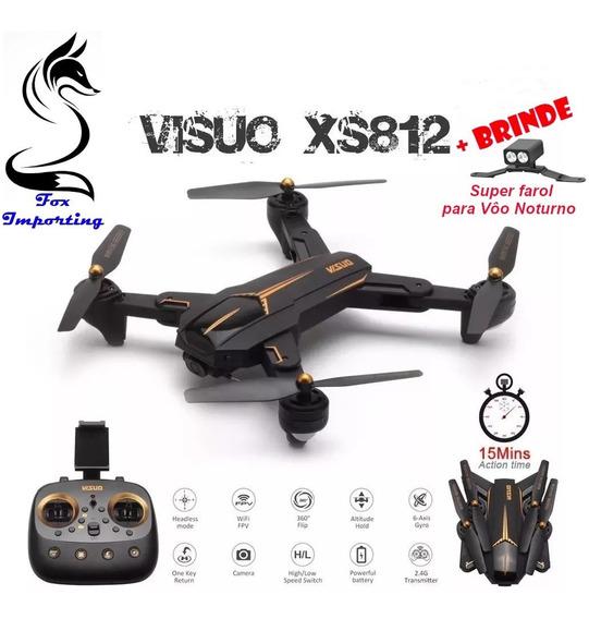 Drone Visuo Xs812 Gps Com Camera Ful Hd Wifi 5.8 3 Baterias