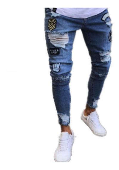 Pantalones Rotos Hombre Entubados Mercadolibre Com Mx