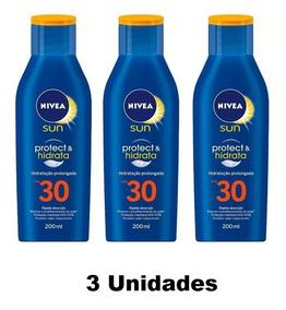 Kit Com 3 Protetor Nivea Sun Fps 30 200ml