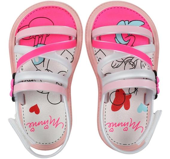 Sandália Infantil Grendene Minnie Hearts 22146   Lojas Radan