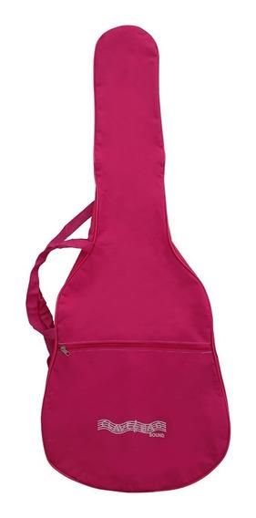 Capa Bag Para Violão Classico Rosa Comum