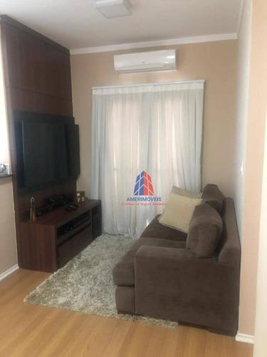 Imagem 1 de 24 de Apartamento Com 2 Dormitórios À Venda, 55 M² Por R$ 230.000 - Condomínio Spazio Avignon - Vila Santa Maria - Americana/sp - Ap1372