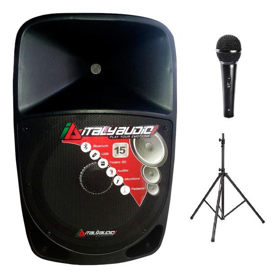 Parlante Marca Italy 15´ Incluye Pedestal Y Microfono