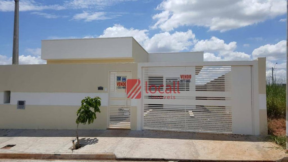 Casa Com 2 Dormitórios À Venda, 64 M² Por R$ 170.000 - Parque Dos Ipês - Mirassol/sp - Ca1761