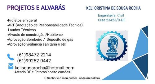 Imagem 1 de 1 de Engenheiro Civil ,projetos ,art ,laudos Tecnicos Alvaras Etc