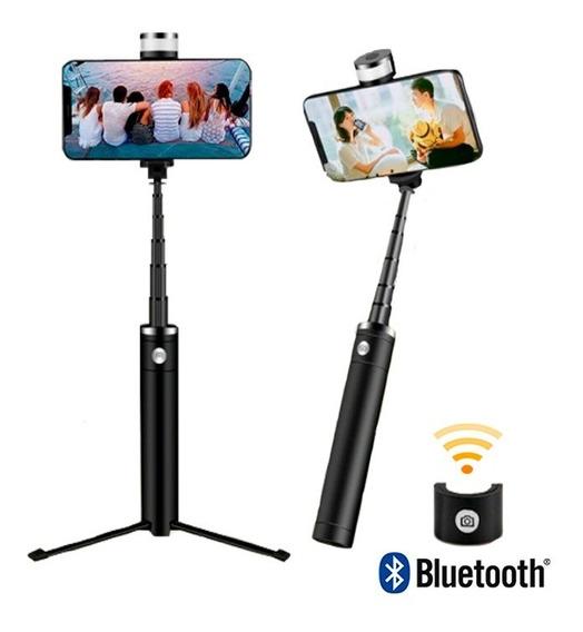 Tripé Bastão De Selfie Com Conexão Bluetooth E Luz Led C/ Nf