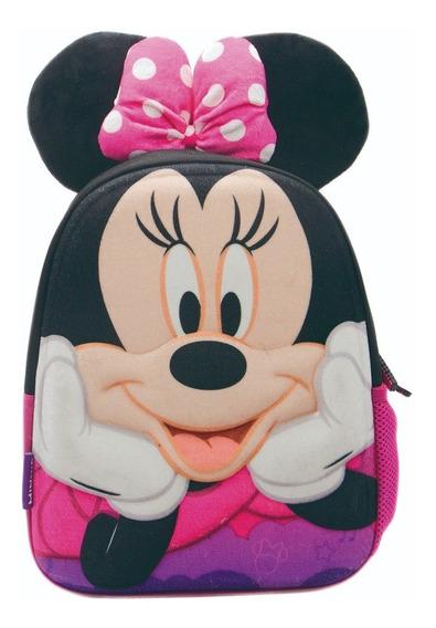Mochila Jardin Minnie Mouse Con Orejas Termoformada Original