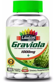 Graviola 1000mg 180 Tabletes Lauton Nutrition