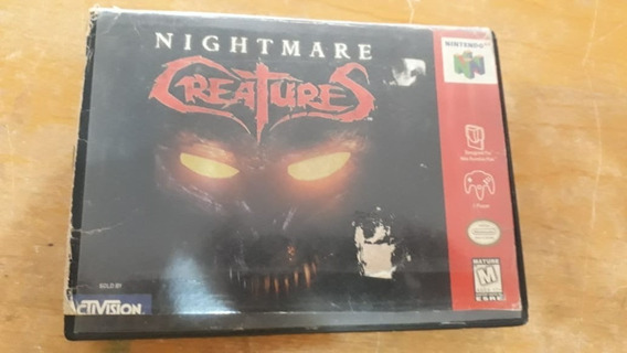 Nightmare Creatures-nintendo 64 Original Com Caixa