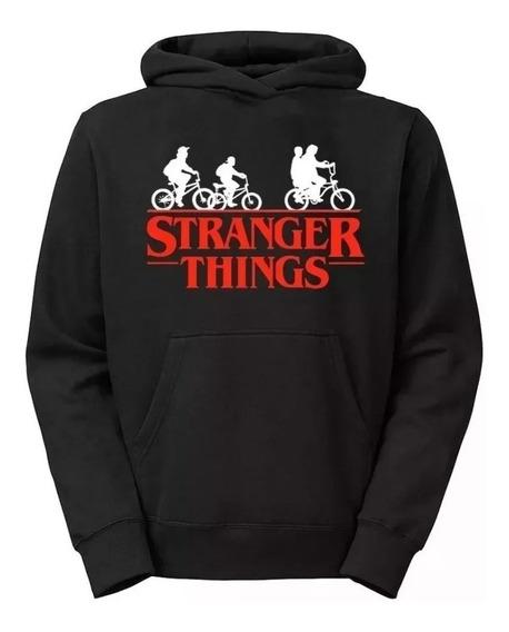Blusa De Frio Moletom Estiloso Stranger Things Bicicleta